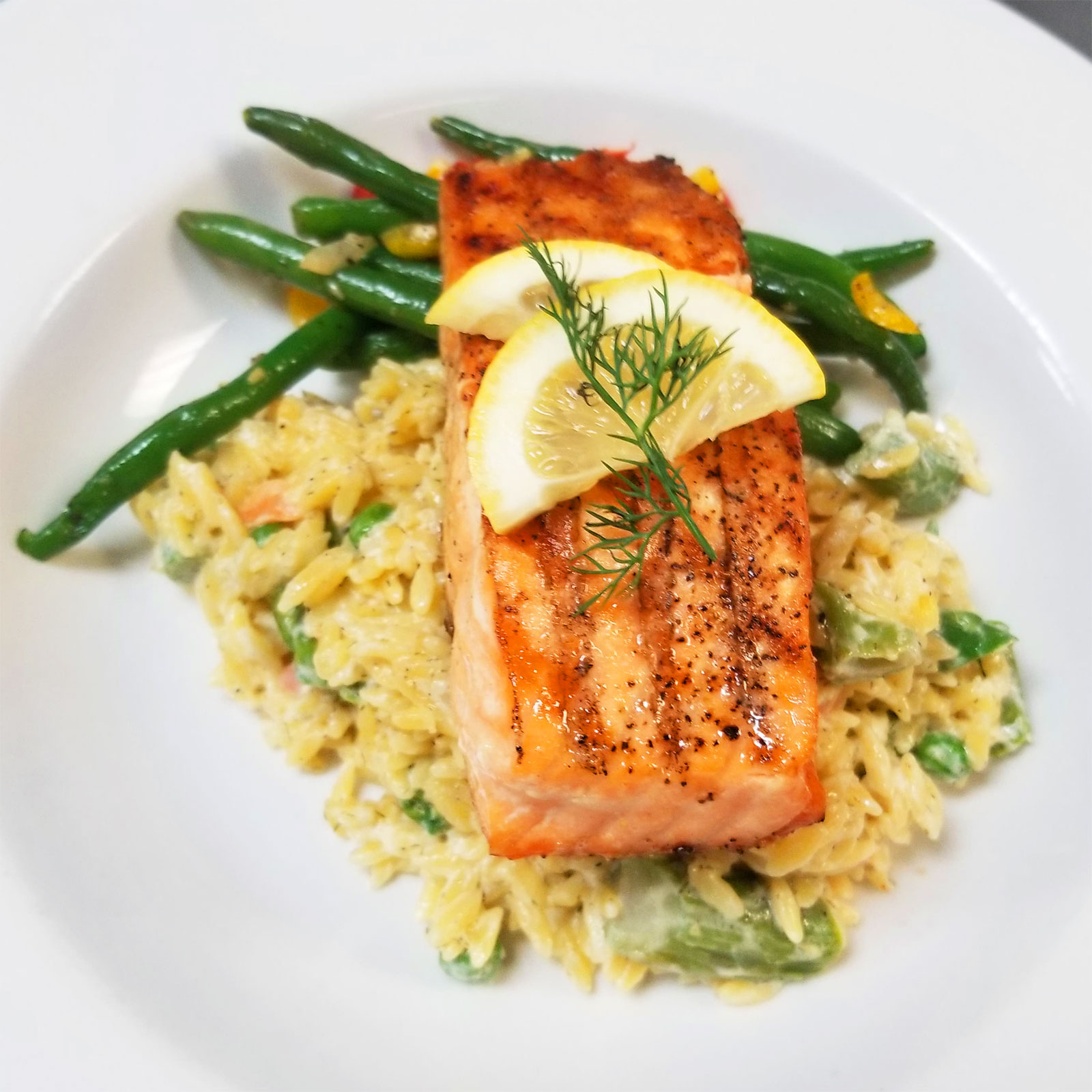 Grilled Salmon Pogreba Restaurant